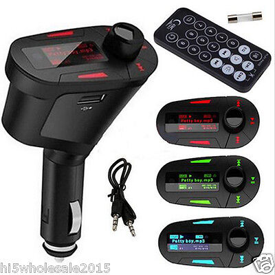 3.5mm AUX Multifunction Car FM Transmitter Kit MP3 Player With Charger for Phone
