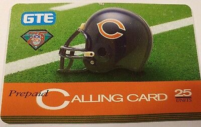 Chicago Bears GTE Phone 75th NFL Anniversary Phone Card
