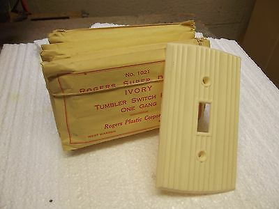 Vintage light Switch Plate Covers Light Switch Ivory Color 10 PIECES + SCREWS