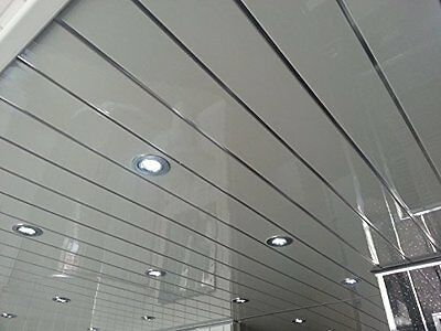 10 Twin Chrome PVC Bathroom Cladding Shower Wall & Ceiling Panels