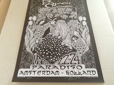 Biffle Black Crowes poster Paradiso Amsterdam 06 mint signed numbered Rare Dead