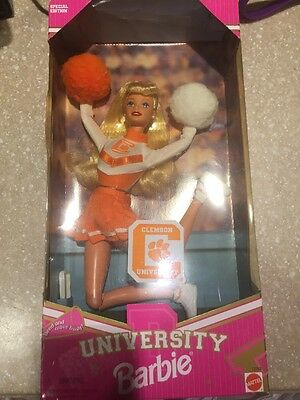 Clemson University Barbie Cheerleader Doll 1997 NIB