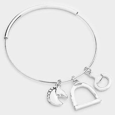 Silver Metal Horse Head Charm Bracelet *Great Gift for Christmas