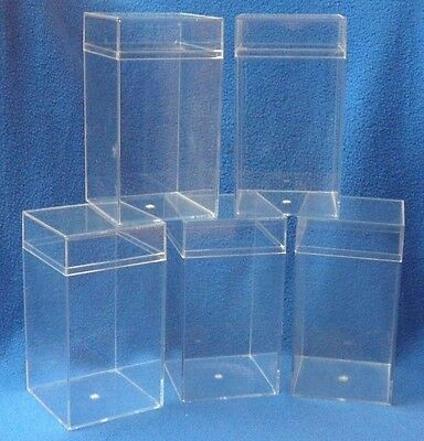 Plastic Display Cases - Approximately 7 1/4 X 4 X 4 Inches
