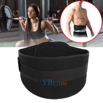Weight Lifting Belt Gym Fitness Exercise Nylon Adjustable Waist Support Straps
