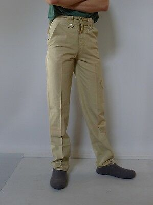 Vintage retro true 1970s unused 30 S mens pants Lee Cooper yellow brown NOS tag
