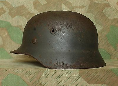 Original WW2 Relic German Army Steel Helmet M40 with Liner ( Size 66 )