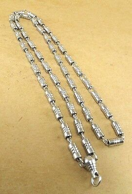 Thai Amulet Buddha Unsoiled Pendant Stainless Iron Solid Chain Necklace 52 gm 28