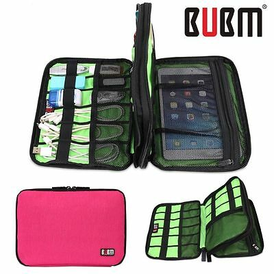 BUBM Waterproof Double Layer Electronic Accessories Hard Drive Cable Storage Bag