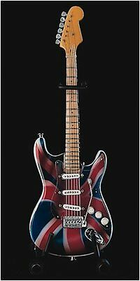 Baby Axe Licensed Union Jack Fender Stratocaster Miniature Ornamental Guitar