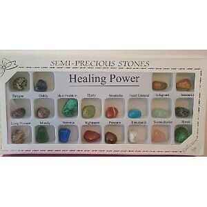 Crystal Stones Set of 20 Healing Power Crystals in a Presentation Box; 20 Power