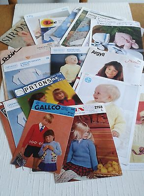 40 x  VINTAGE BABIES & CHILDREN  KNITTING PATTERNS BUNDLE.  ALL SHOWN IN IMAGES.