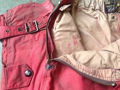 Vintage Belstaf Waxed Motorcycle Red Trousers Size 103 Cm