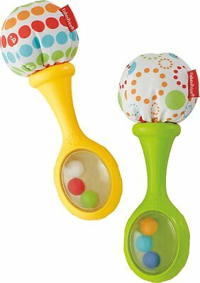 New Fisher-Price Rattle and Rock Maracas Musical Toy Unisex BLT33 Free Shipping