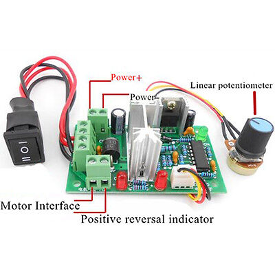 6V/12V/24V 10A DC Motor Speed Controller Control PWM Regulator Switch Reversible