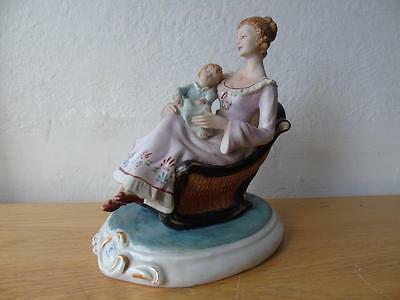"""Rare & Large Capodimonte Group Figurine of a Mother & Child by F. Meneghetti 15"""""""