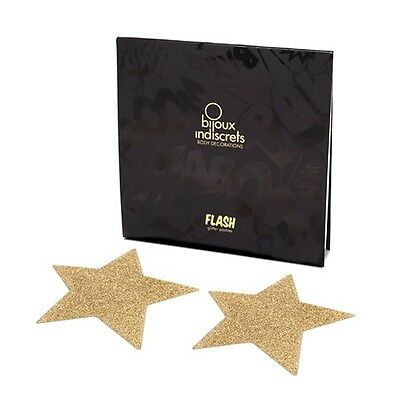 Bijoux Indiscrets - Flash Star Gold Stern Nippel Cover Aufkleber |58
