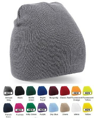 BLUE BLACK PINK GREY RED GREEN Pull On Knitted Soft Feel Warm Ski Beanie Hat