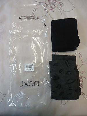 Next girls 2x pair of tights 3-4Y NWT