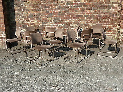 Set of 11 Vintage Tubular Metal Stacking Chairs by Remploy 1960s (20C231)