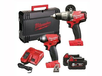 milwaukee  MILM18FPP2AF M18 FPP2A-502X Fuel™ Twin Pack 18 Volt 2 x 5.0Ah Li-Ion