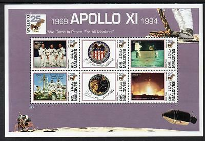 Maldives MNH 1994 The 25th Anniversary of First Manned Moon Landing M/S