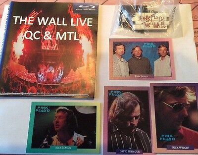 ROger Waters PINK Floyd LOT: CARDS + Live Wall Blu-ray + Metal KEY Chain