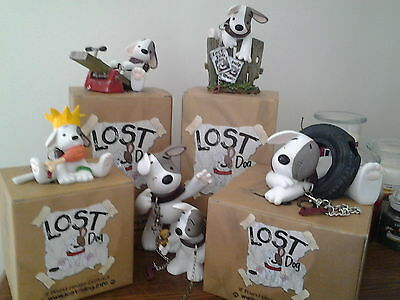 Collection Of 6 Lost Dog Ornaments