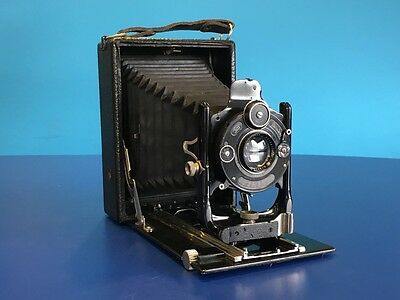 Zeiss Ikon Ica Quarter Plate Camera With Carl Zeiss Jena Tessar 135mm f6.3 Lens