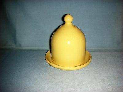 Bybee Yellow glaze Cheese Cloche & Plate
