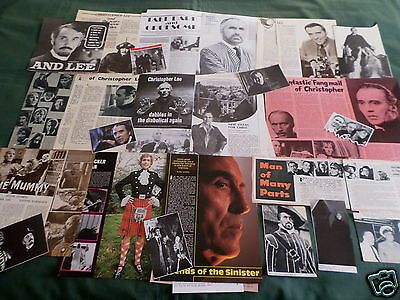 """Christopher Lee - Film Star - """"clippings /cuttings Pack"""""""