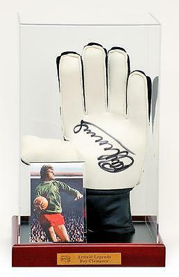 RAY CLEMENCE MBE Hand Signed Goalkeepers Glove LIVERPOOL FC  AFTAL photo proof