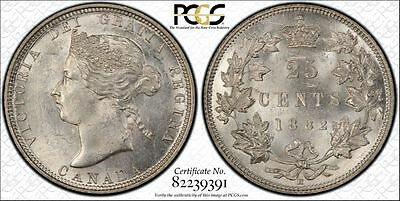 1882-H 25C  Canada 25 Cents. PCGS MS62