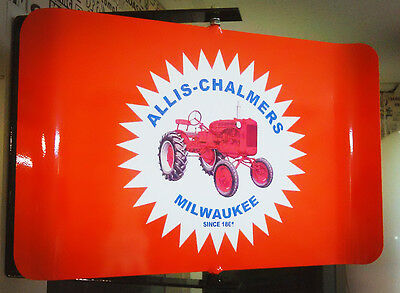 Allis Chalmers  Classic Tractor Nostalgic Spinning Advertising Sign 2 Sided