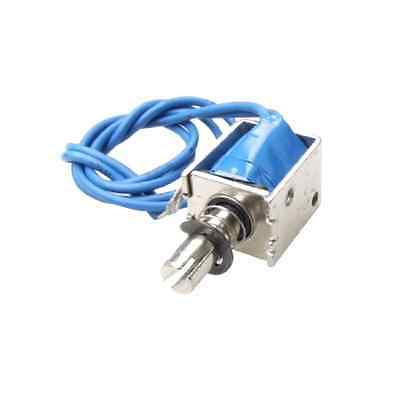 Uxcell 4N Push Type Open Frame Solenoid Electromagnet Actuator, DC 12V, 10 mm