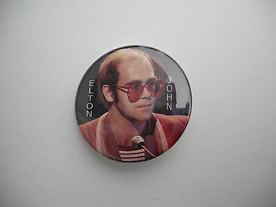 """Young Early Elton John Photo With Red Glasses 1.5"""" Pin Pinback Badge Button"""