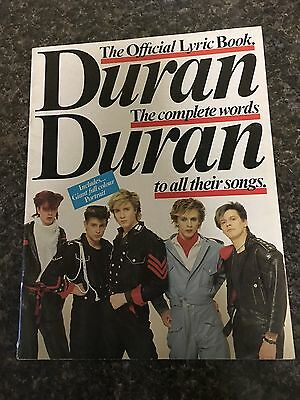 DURAN DURAN book from 1981-1982:  Official Lyric Book With Poster