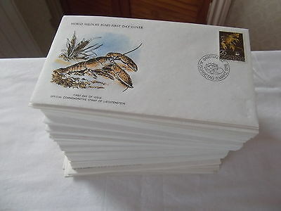World Wildlife Fund for Nature first day cover collection. See pics in listing.