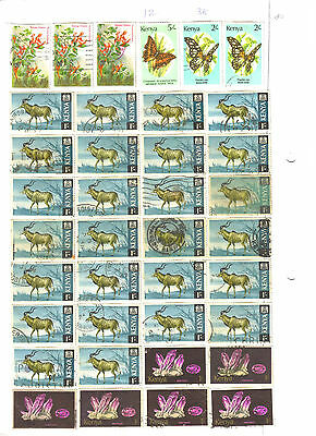 Kenya High Value Stamps - 70+ Stamps - Mix Lot 206