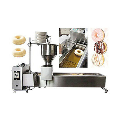 ASGO Mini Commercial Automatic Donut Maker Fryer Doughnut Making Machine w/ Mold