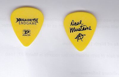 MEGADETH 2009 Endgame Tour Guitar Pick!!! DAVE MUSTAINE custom concert stage #3