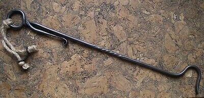 Fireplace Poker,Hand Forged Fire Poker Wrought Iron  Handmade