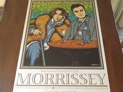 Jermaine Rogers Morrissey poster Houston 07 MINT signed # The Smiths Cure Panic