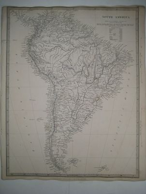 1842 SDUK: Map of South America