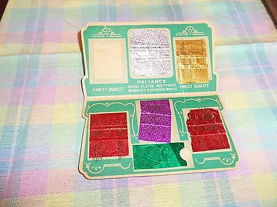 Lot of 1 Vintage Antique Sewing Needle Book~Reliance~Sewing NICKLE PLATED JAPAN