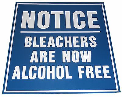 """NY YANKEES 18x18 METAL OLD STADIUM SIGN """"NOTICE: BLEACHERS ARE NOW ALCOHOL FREE"""""""
