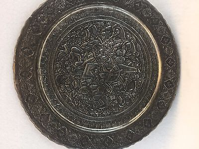 Vintage Hand Etched Persian Tray
