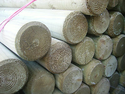 1.8M 75Mm Machined Treated Posts/ 6Ft Timber Round Post