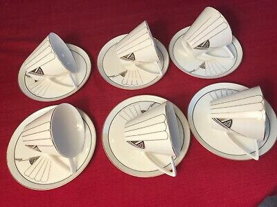 """""""DAZZLE"""" International Fine china """"Cup and Saucer """"Unique design Jazz age"""