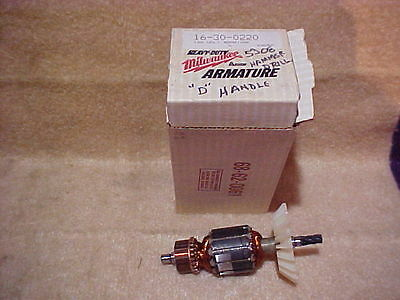 Milwaukee OEM Armature for  Drill Part # 16-30-0220 NOS in box - others avail.